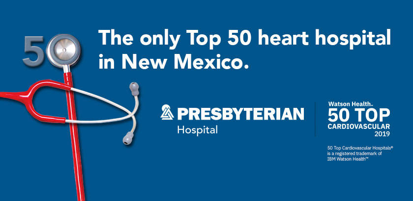 The only top 50 heart hospital in New Mexico.