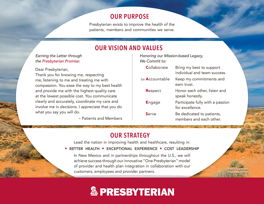 Record In One Place The Key Elements Of Our Organization And To Help Each Employee Describe How His Or Her Job Contributes Presbyterians Success