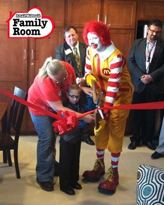 Lives we ve touched presbyterian healthcare services for Ronald mcdonald family room