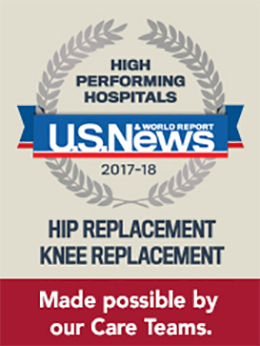US News & World Report Hip and Knee Replacement Award