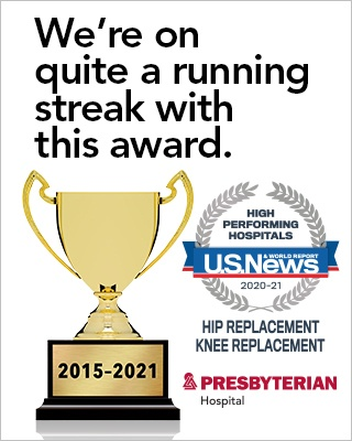 Named a High-Performing Hospital in Hip & Knee Replacement by U.S. News & World Report