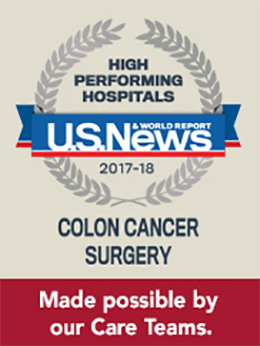 US News & World Report Colon Cancer Award